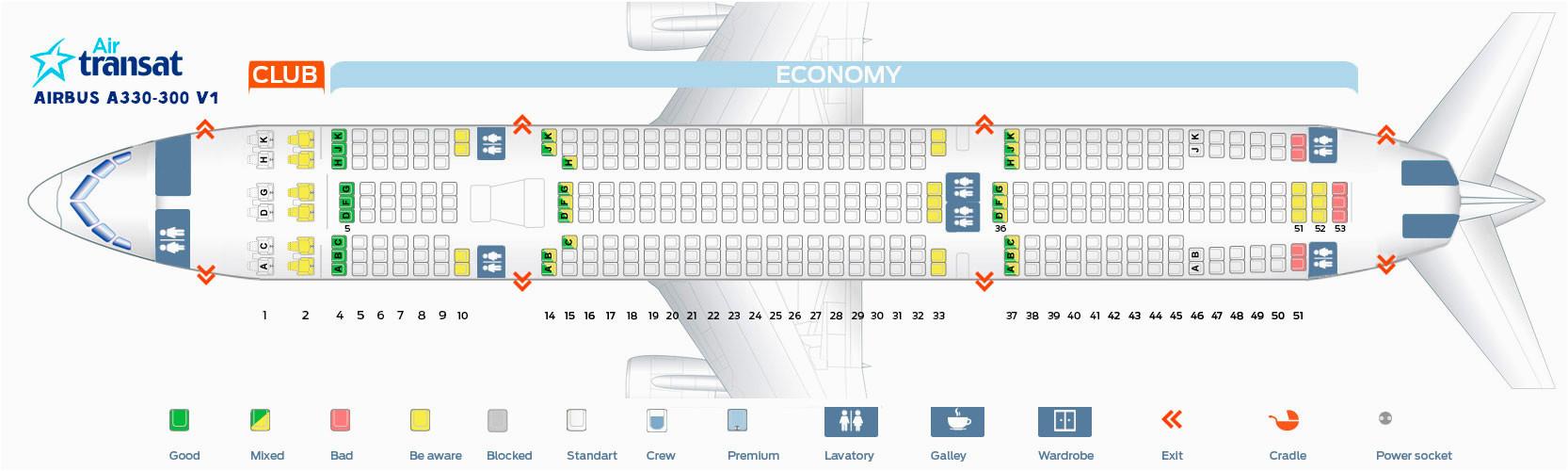 air transat a330 interior