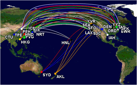 star alliance route list transpacific wandering aramean