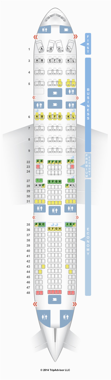 seatguru seat map air france boeing 777 200er 772 four class