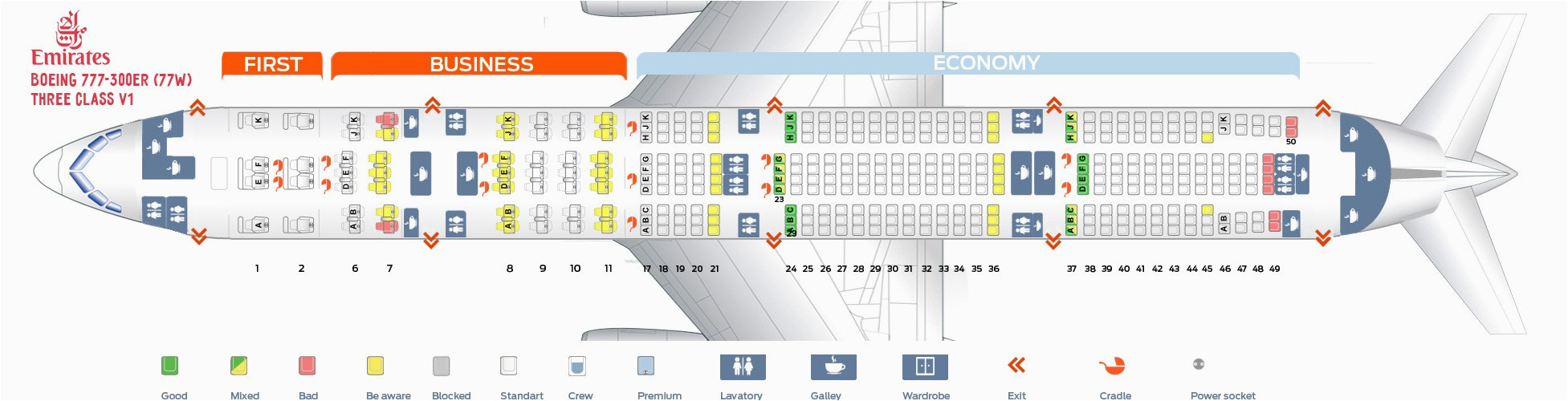 77w seat map