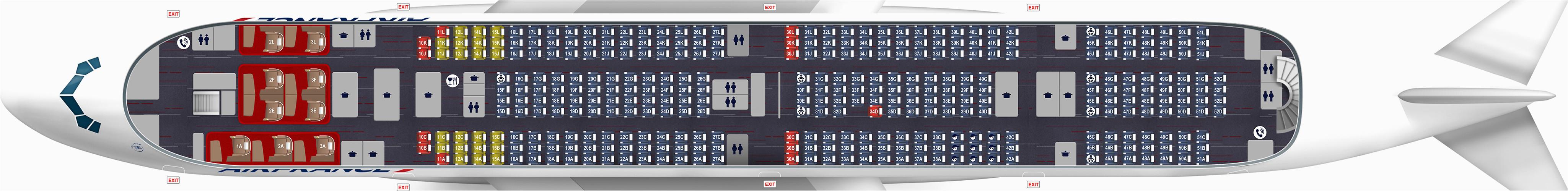 a380 map 516 seats