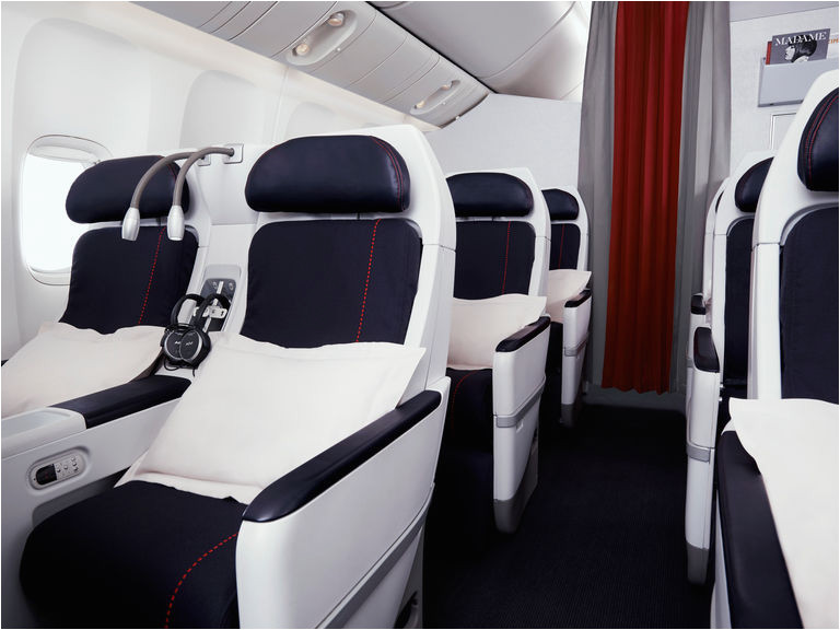premium economy service on board