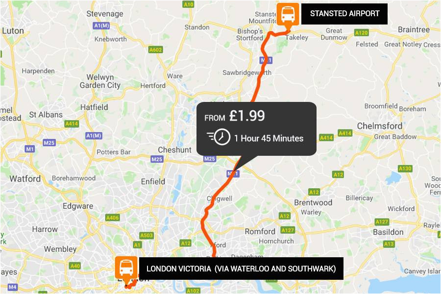 stansted to london airport transfers from just a 2 easybus
