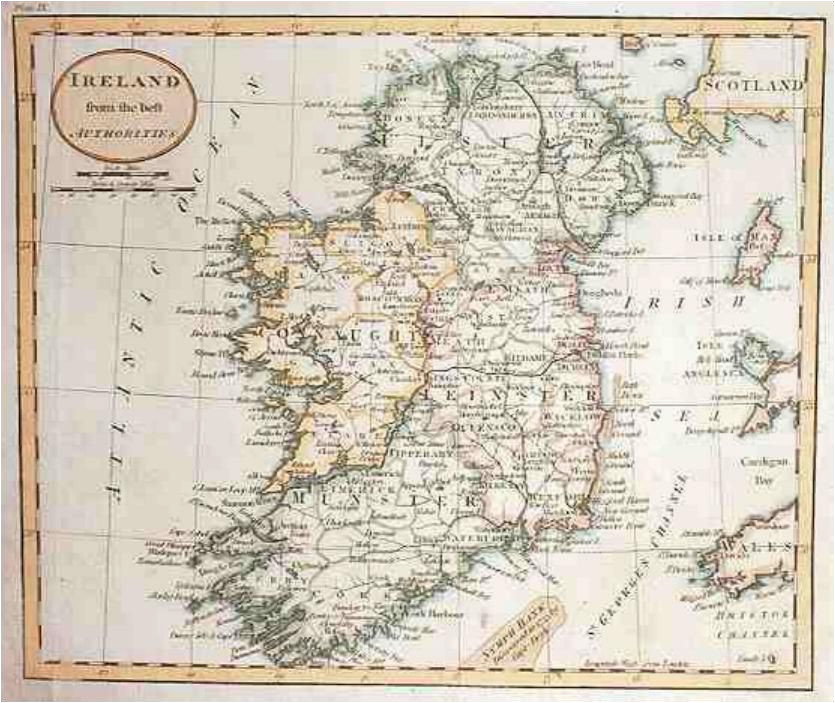 map of ireland in 1800 russell maps map historical maps