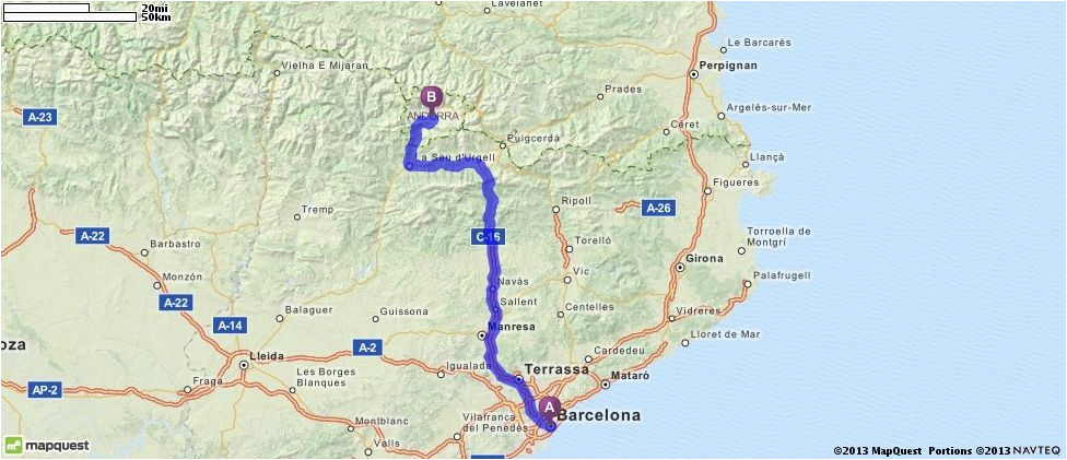 driving directions from barcelona spain to andorra