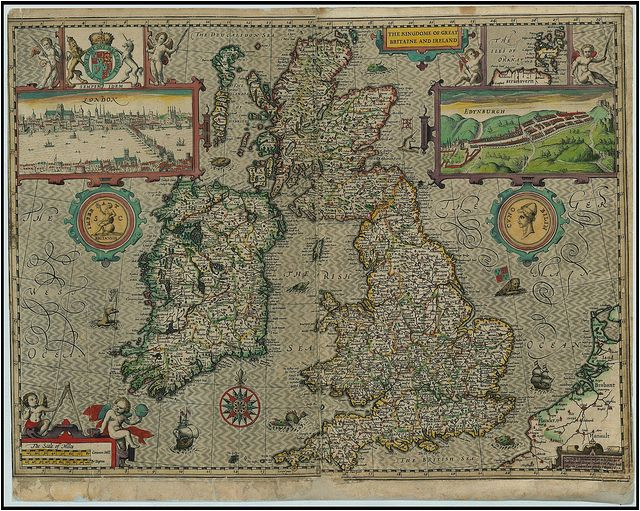map of great britain and ireland made in 1610 maps