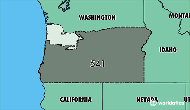 where is area code 541 map of area code 541 eugene or