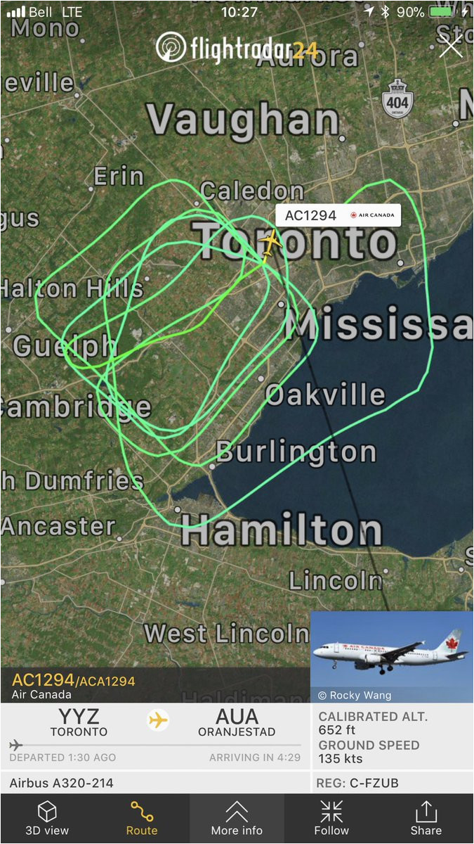 tom podolec aviation on twitter diversion air canada ac1294 to