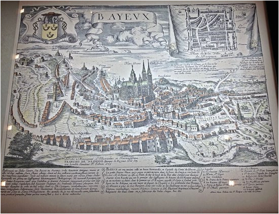 Bayeux France Map Map Of Old Bayeux Picture Of Musee Baron Gerard Bayeux Tripadvisor