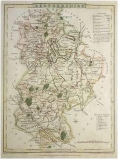 9 best antique maps of bedfordshire images in 2017 antique