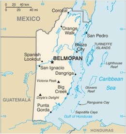 Belize Spain Map Belize I Was Born In orange Walk My Country Map Of Belize