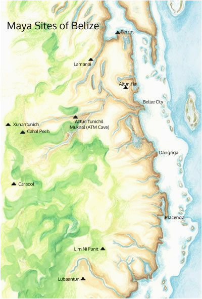 belize mayan sites ancient mayan cities location maps belize