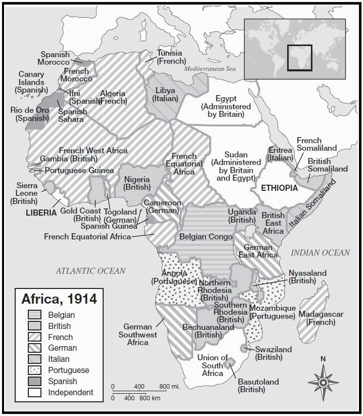 african colonial history in a map maps they tell the story of