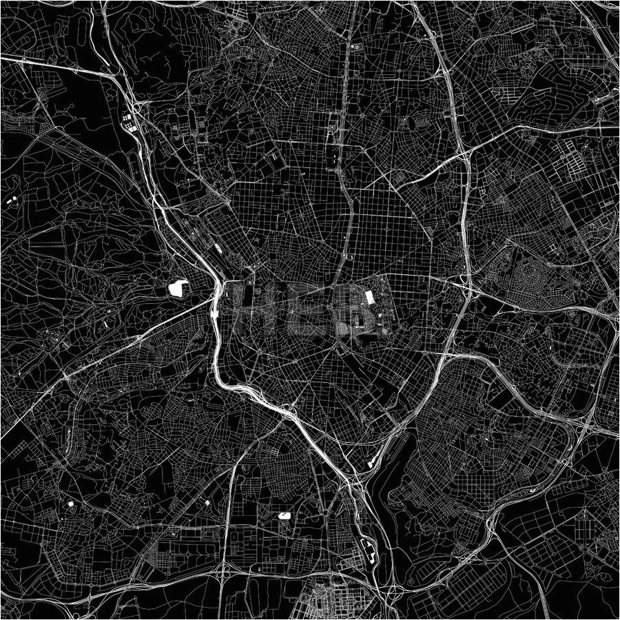 madrid spain download pdf map maps vector downloads map map