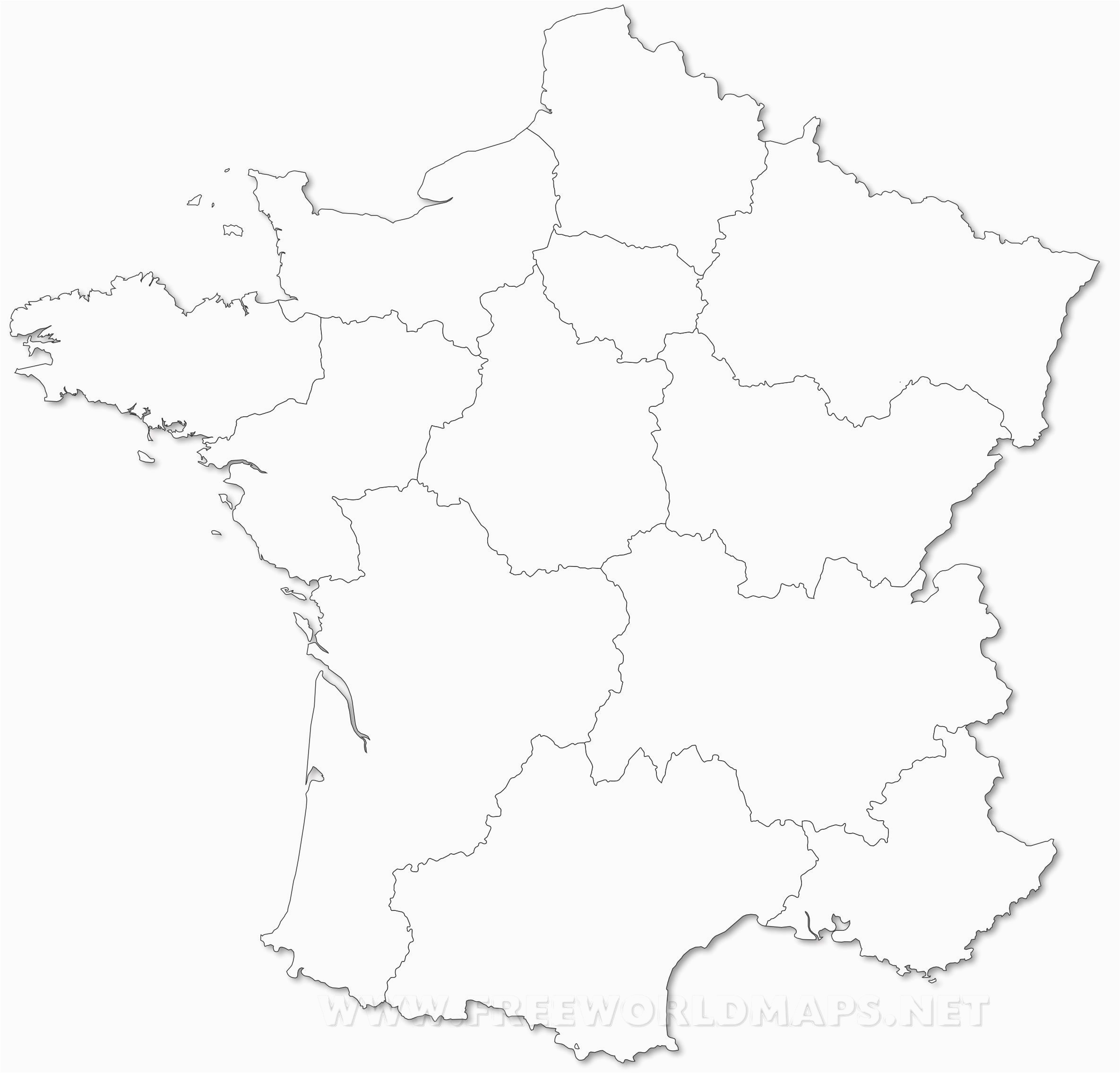 Blank Political Map Of France New Political Map Of France Bressiemusic