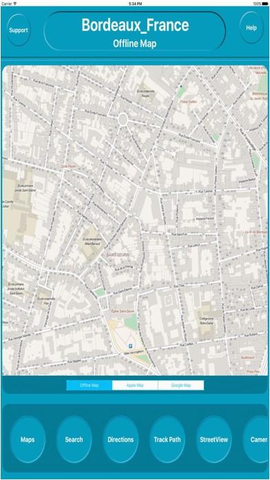 bordeaux france offline map navigation guide app price drops