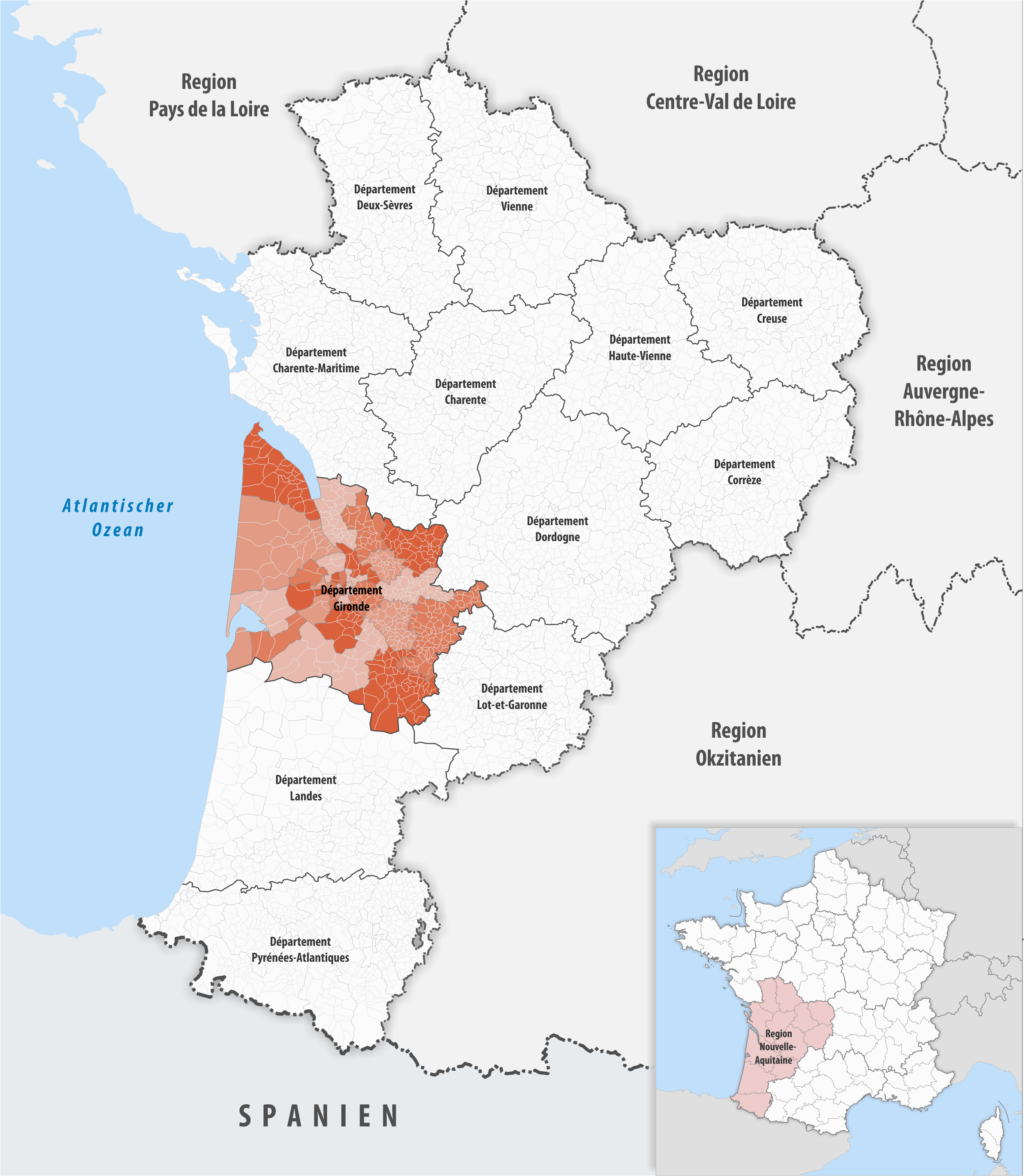 Bordeaux On Map Of France Datei Locator Map Of Departement Gironde 2018 Png Wikipedia