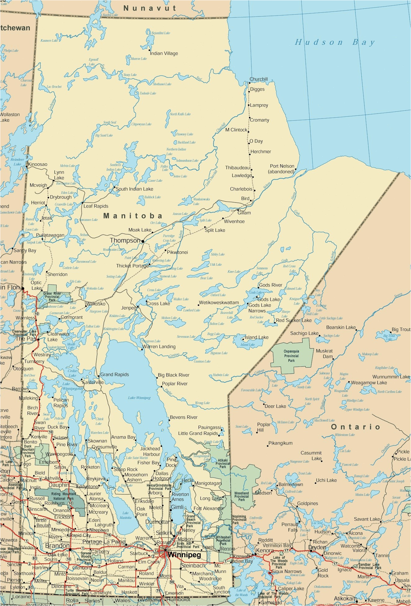 road maps canada world map
