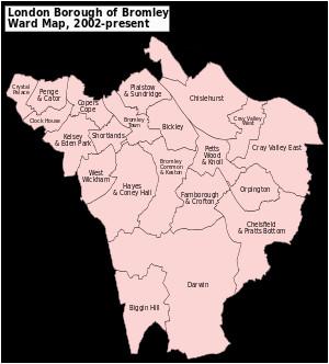 Bromley England Map Bromley London Borough Council Elections Revolvy
