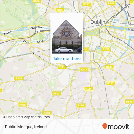 how to get to dublin mosque in dublin by bus or train moovit