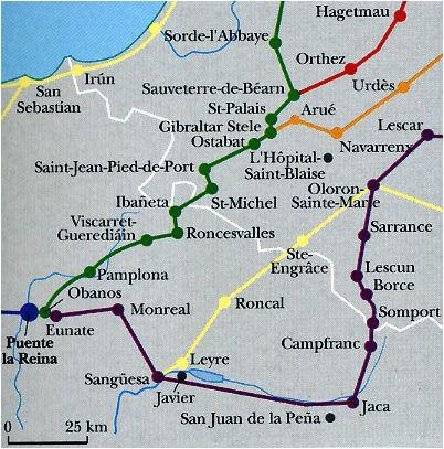 las rutas del camino en los pirineos caminodesantiago el camino
