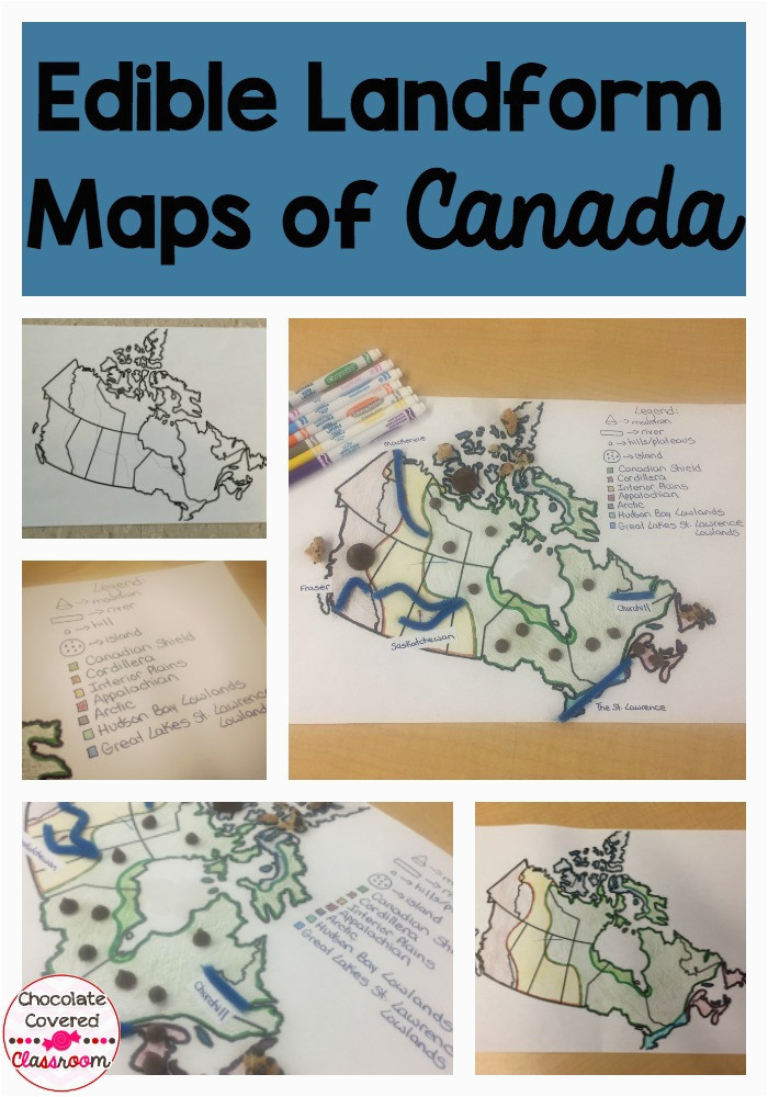 geographical regions of canada landform map project chocolate