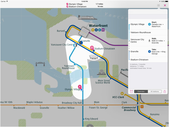 vancouver rail map lite app price drops