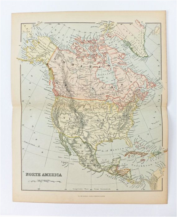 antique map of north america vintage map of united states
