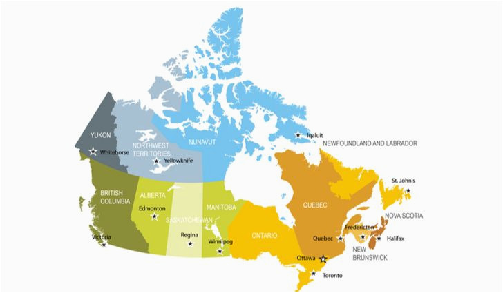 Canada Province Maps the Largest and Smallest Canadian Provinces Territories by