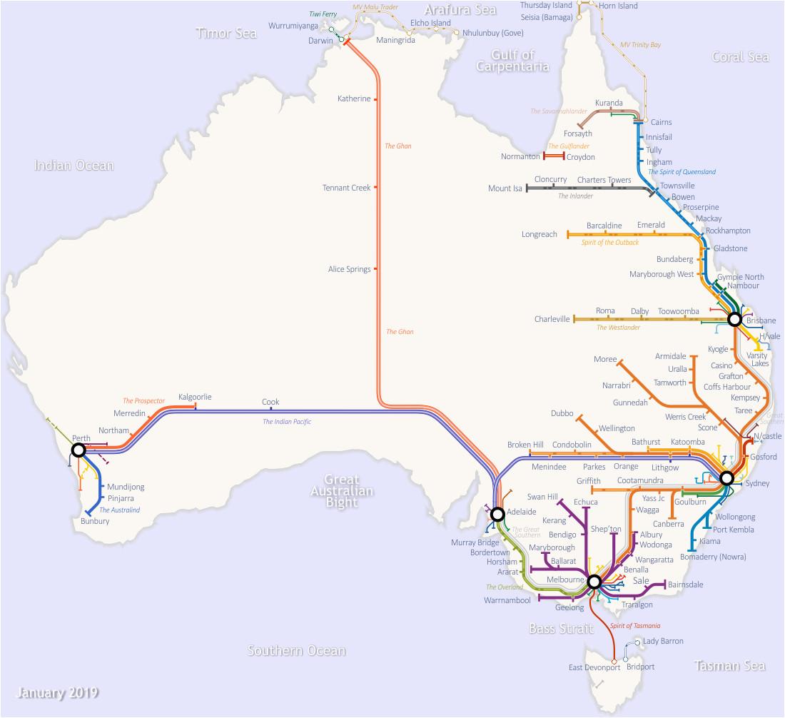 australian rail map