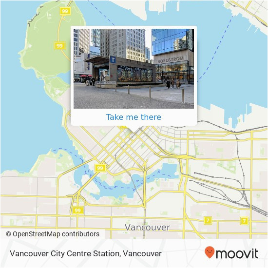how to get to vancouver city centre station in vancouver by bus or