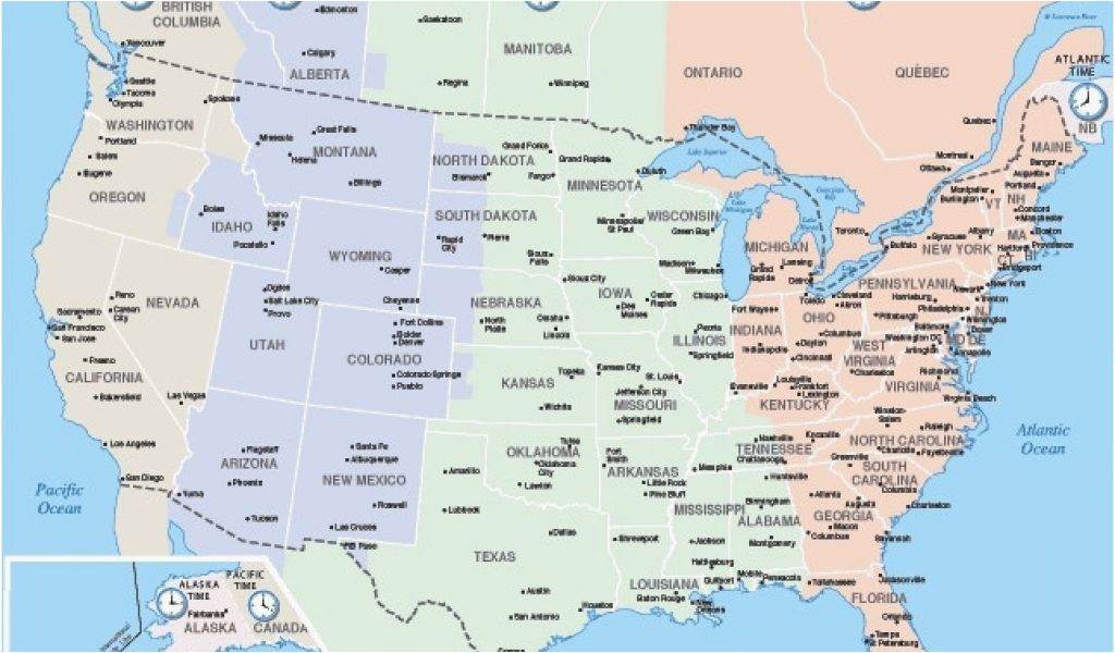Canada Time Zone Map Printable California Time Zone Map Map