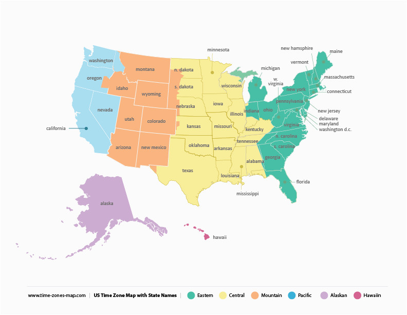 printable time zone map