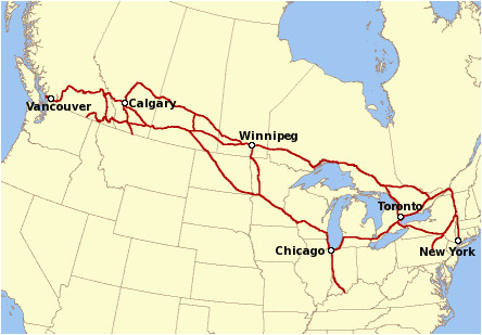 Canada Trains Map Canadian Pacific Railway Wikipedia