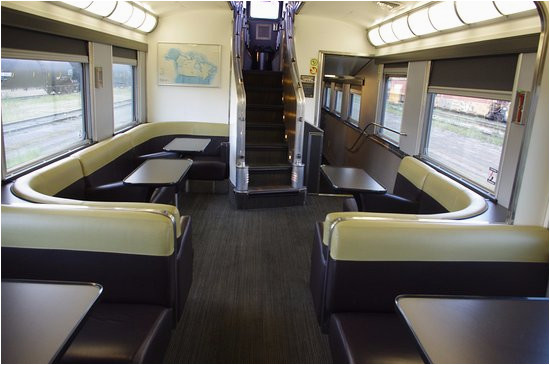 the canadian observation car lower level picture of via rail