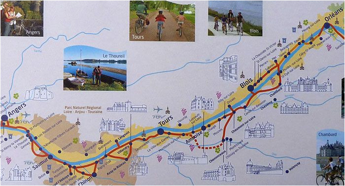 loire valley cycling pictures and information france