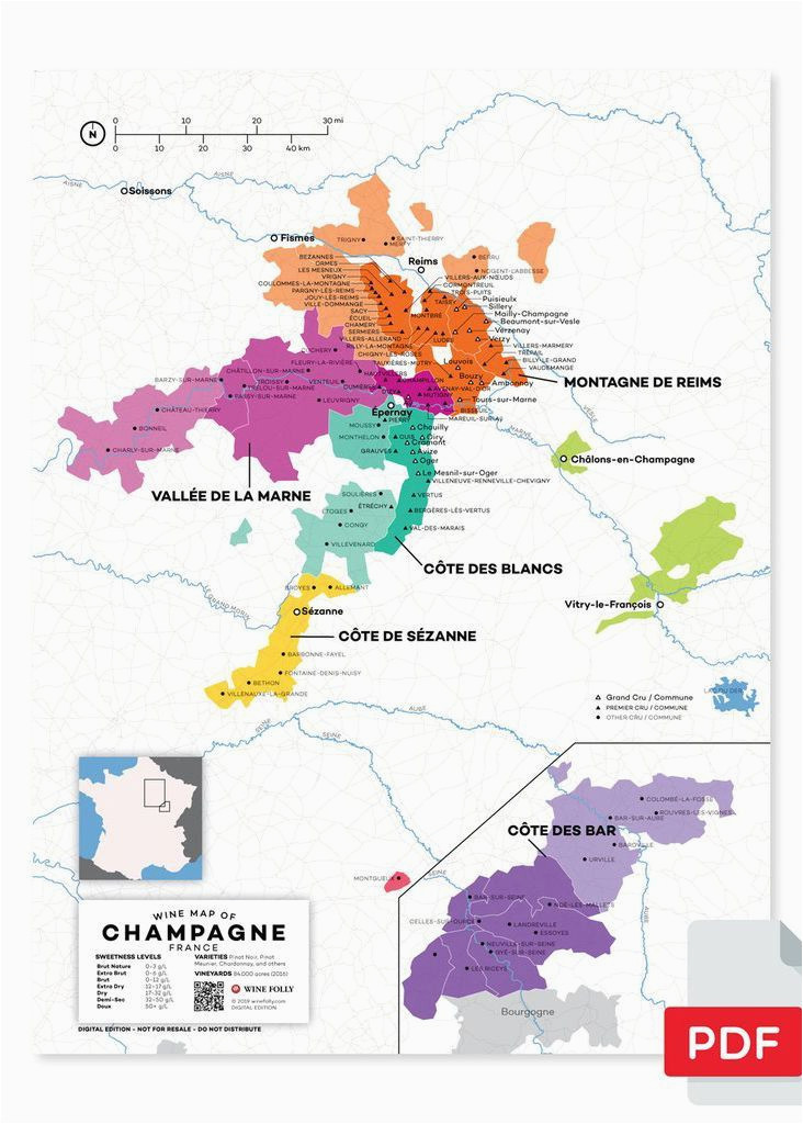 Champagne In France Map France Champagne Wine Map In 2019 From Our Official Store