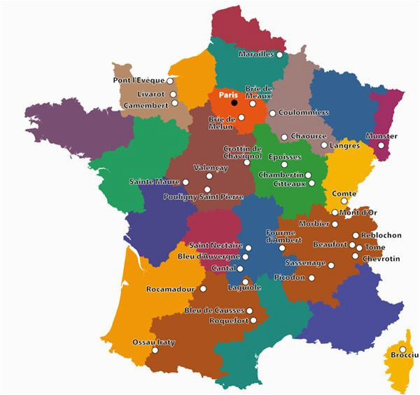 Cheese Map France A Map Of French Cheeses Wine In 2019 French Cheese