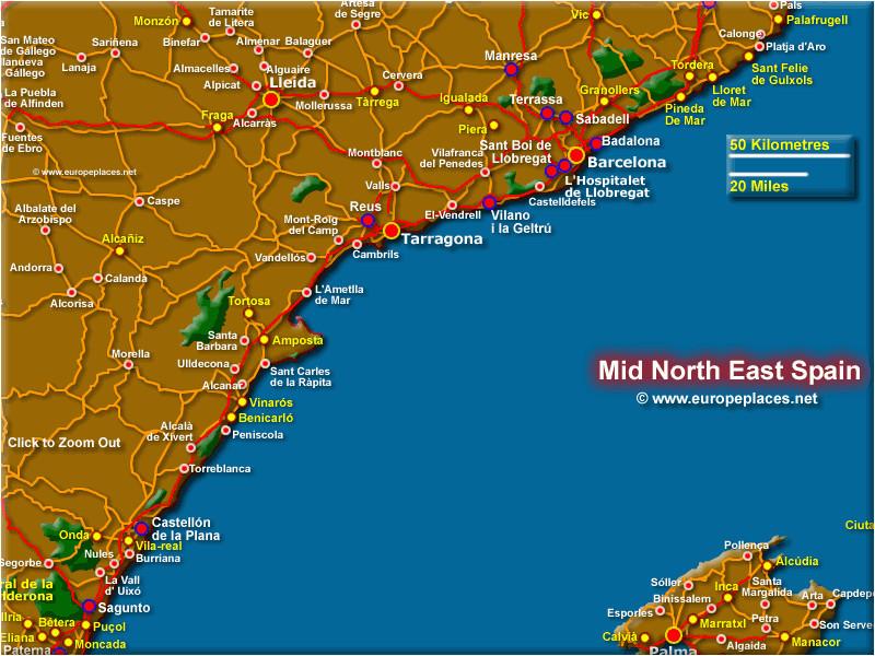 detailed map of east coast of spain twitterleesclub