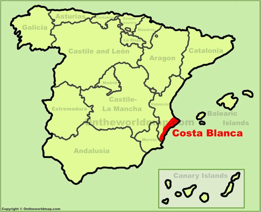 costa blanca maps spain maps of costa blanca
