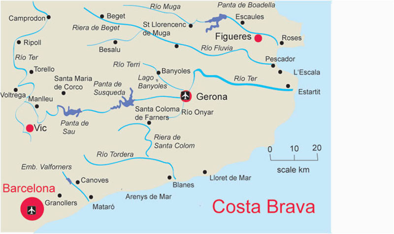 map of costa brave and travel information download free map of