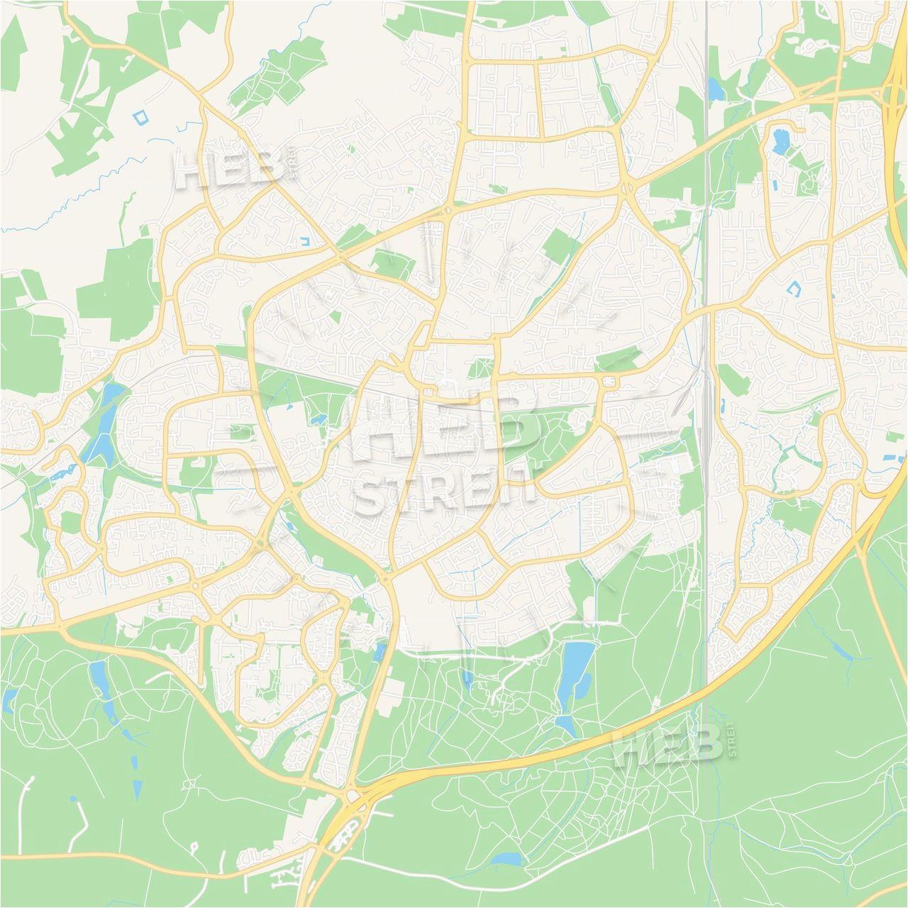 crawley england vector map classic colors maps vector