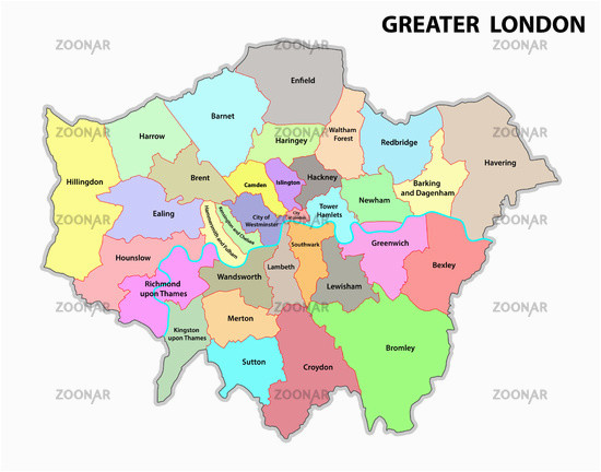foto greater london administrative map bild 12297336