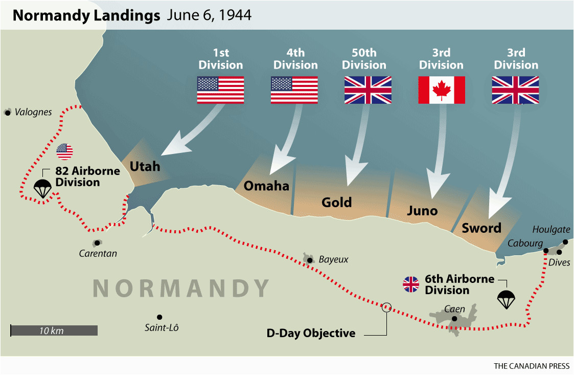 D Day Beaches normandy France Map D Day normandy Landings Map Wwii Europe 1944 D Day