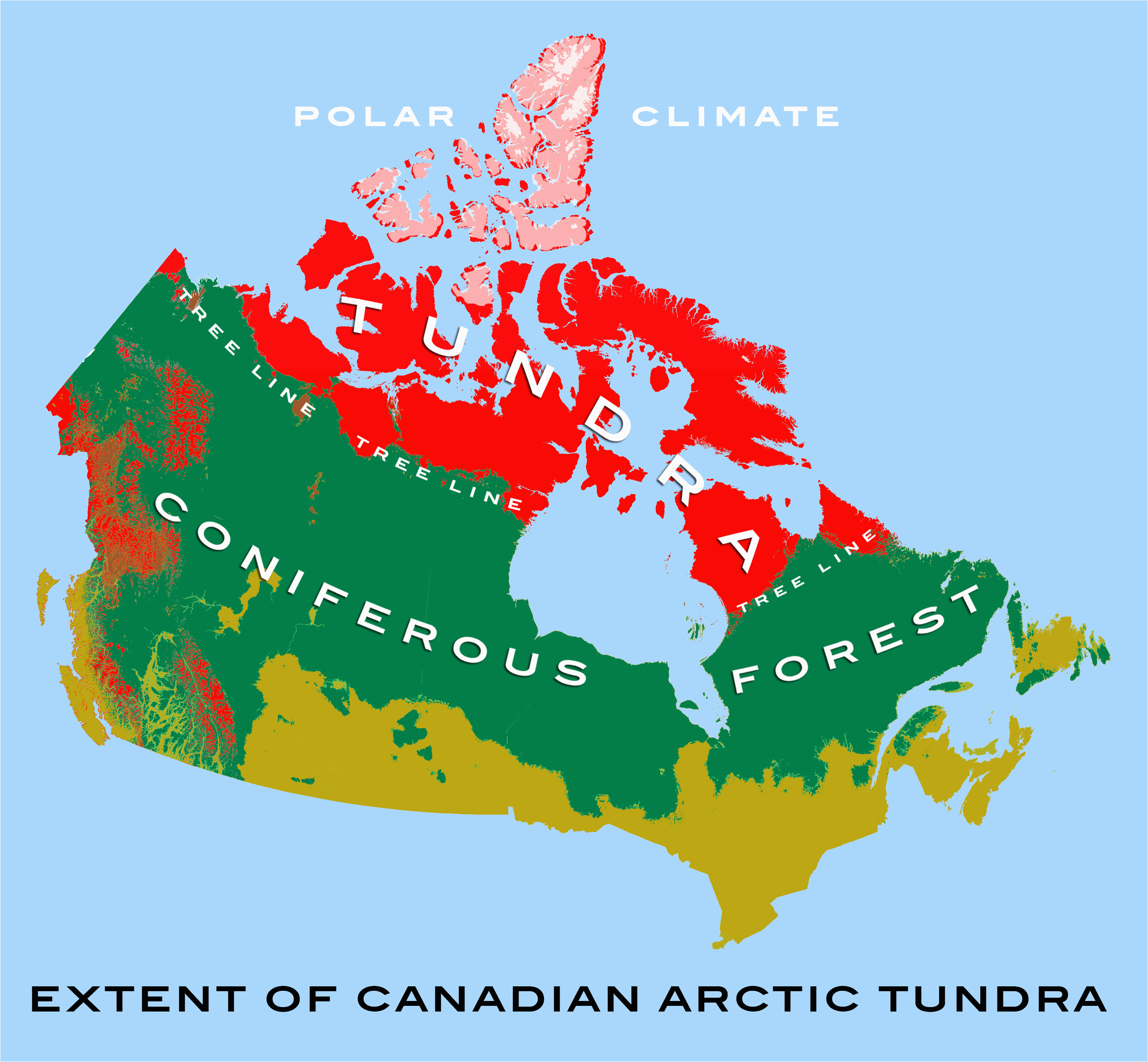 Density Map Of Canada Canadian Arctic Tundra Wikipedia