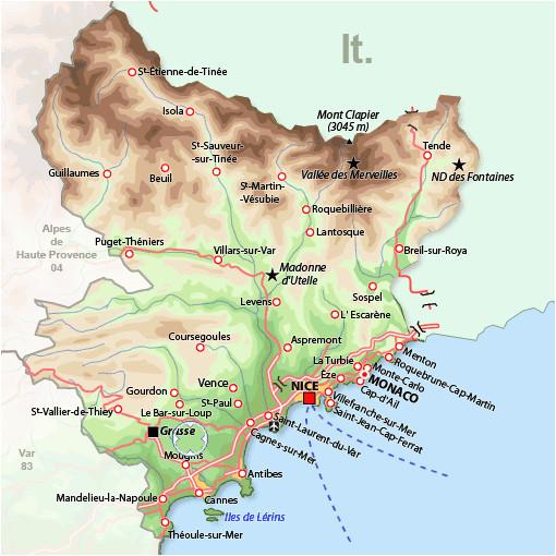 southern france map france france map france travel