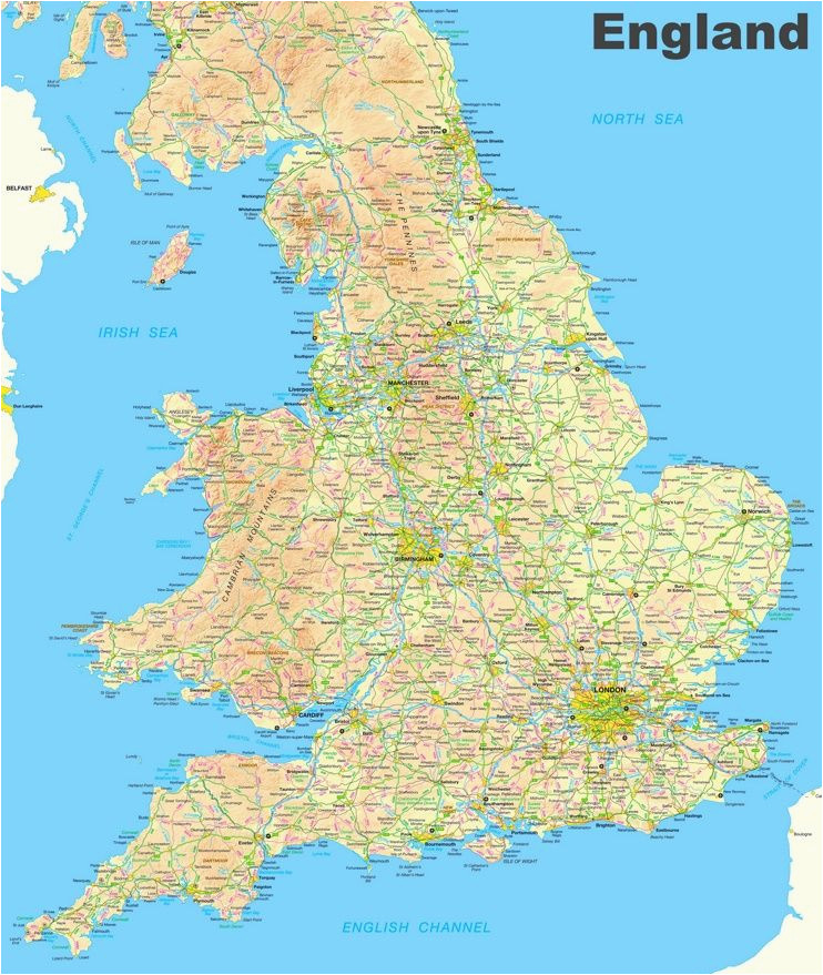 map of england and wales england england map map england