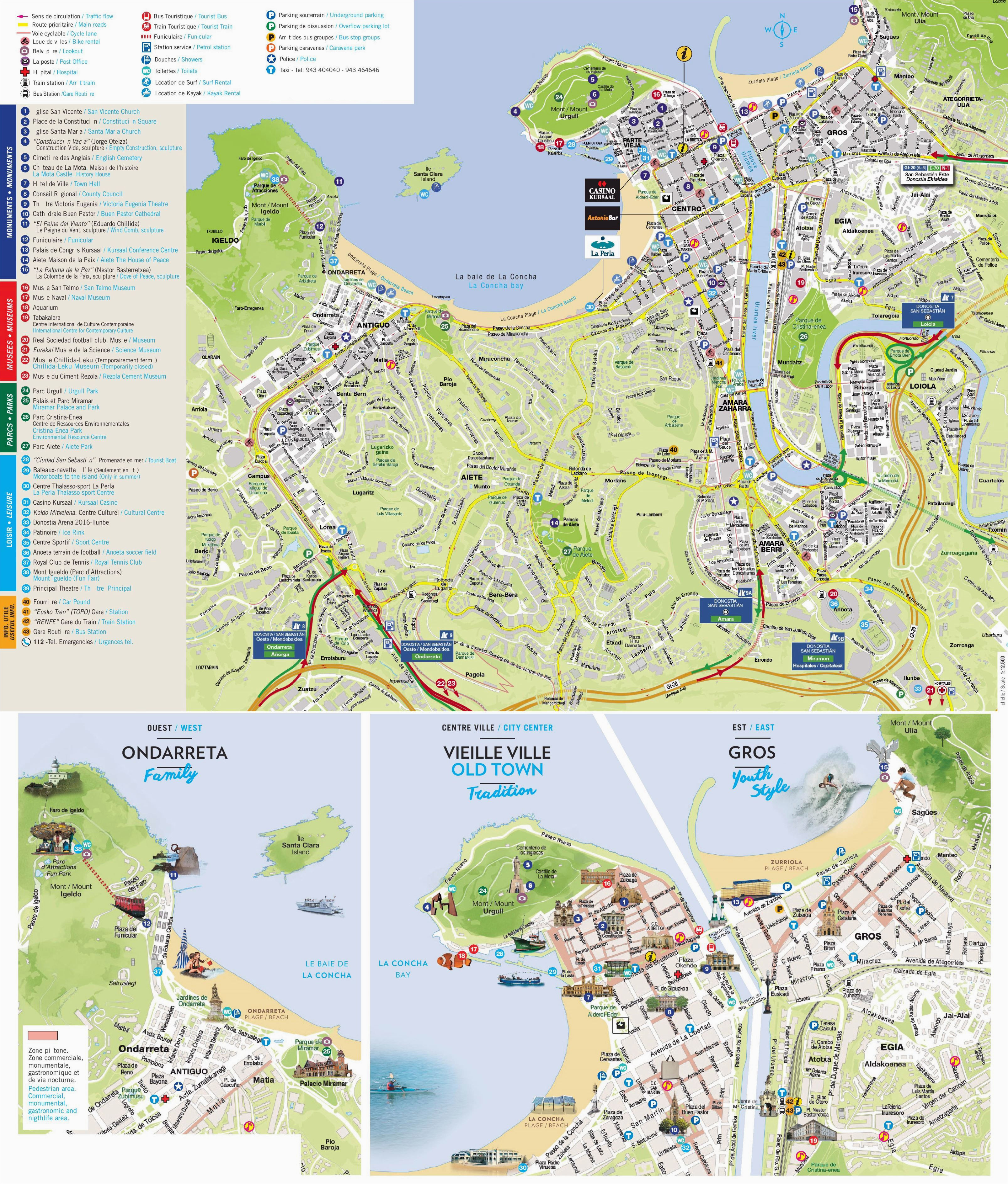 large san sebastian maps for free download and print high