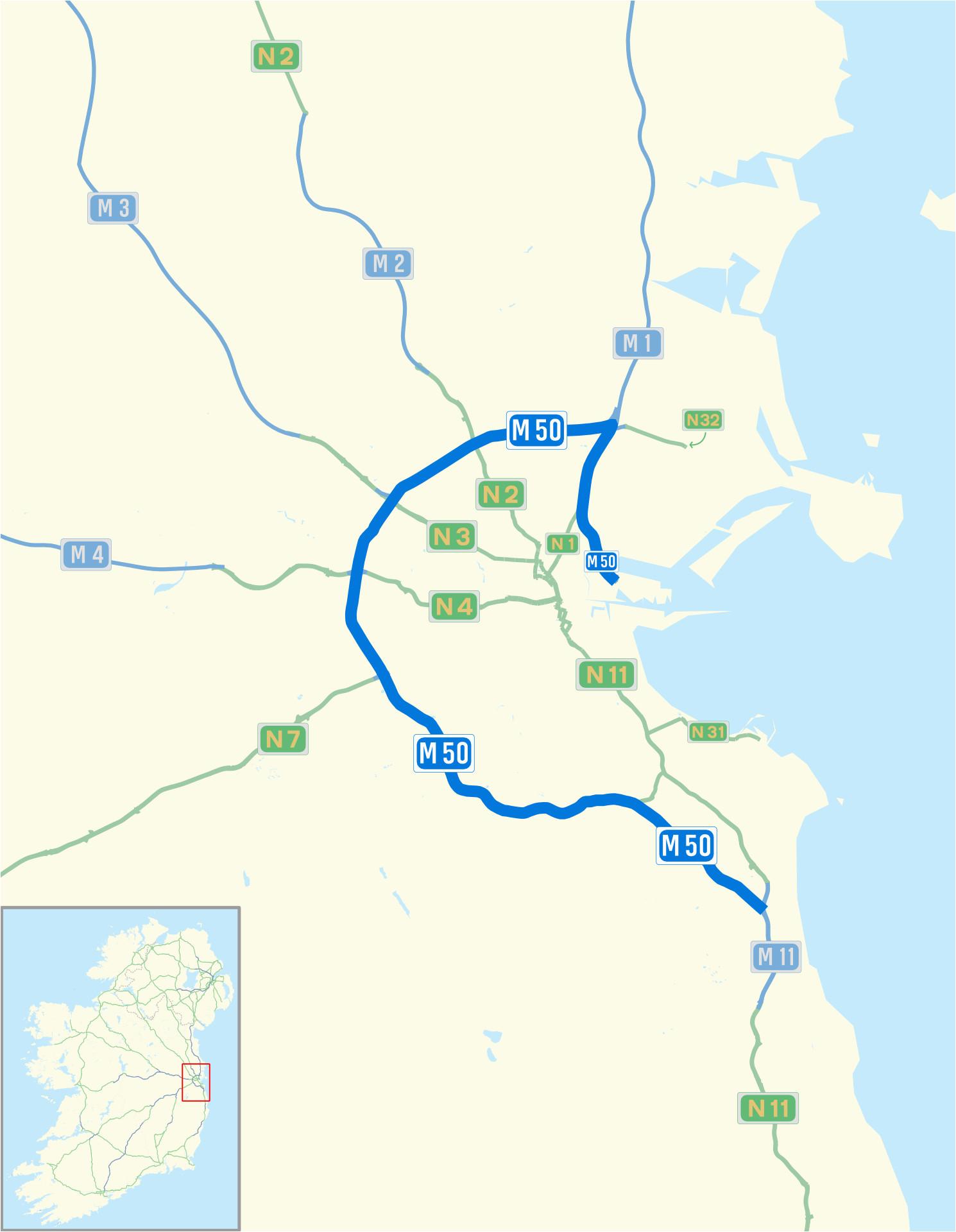 m50 motorway ireland wikipedia