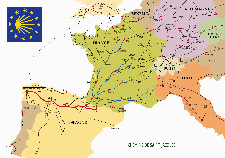 the many routes of the camino de santiago
